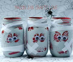 Decorated Jars Craft Zombie Mason Jars Mason Jar Crafts Love 62