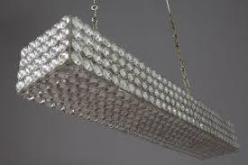 austrian rectangular crystal chandelier from bakalowits 1970s 2