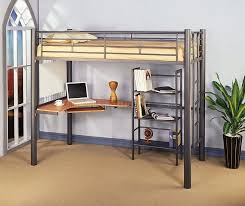 metal bunk bed with desk image of metal bed with desk underneath donco silver metal bunk