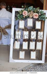 Wedding Seating Chart Frame Wedding Photography Rustic Seating Chart Floral Stock Photo