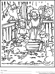 Free Christmas Coloring Pages Nativity Scene At Seimado