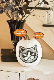 grumpy cat painted pumpkin
