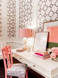 incredible pink office desk beautiful home. Pink Glam Room Decor | The Accent Color Is Beautifully Concentrated In This Small Work Area Incredible Office Desk Beautiful Home R