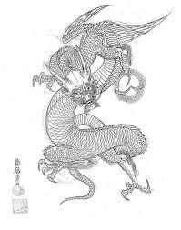 эскизы японских драконов сборник работ мастера Horimouja