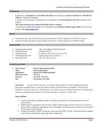 Best Automation Test Lead Resume Contemporary - Simple resume .