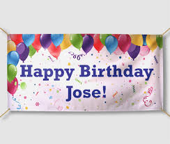 happy birthday banners personalized personalized birthday banners with photo jessica banners