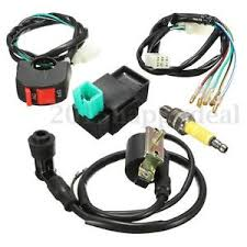 pit bike wiring loom wiring loom on off switch coil cdi spark plug kit for 110cc 125cc 140cc pit bike