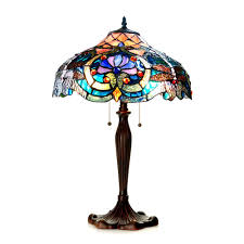 chloe lighting lydia tiffany style victorian 2 light table lamp view larger