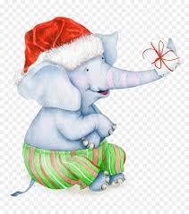 christmas elephant clip art.  Christmas African Elephant Paper Christmas Clip Art  Painted To Elephant Art