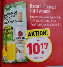 bacardi coconut rum 1l ananaft