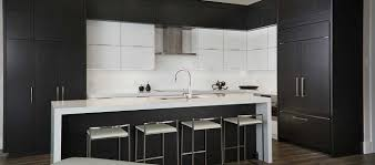modern black kitchens. Plain Modern Modern Kitchen Featuring Black Rift Oak Cabinets Cambria Quartz Counter  Top Double Waterfall Edge And Black Kitchens