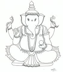 Bal Ganesh Cartoon Colouring Pages 281999