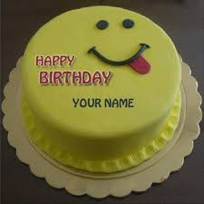 Write Name On Cute Smiling Birthday Cake For Brotherprint Brother