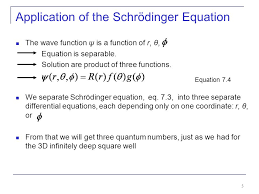 5 of the schrödinger equation the wave function ψ is a function of r