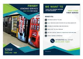 Vending Machine Brochure Gorgeous Entry 48 By Girraj48 For Design A Flyer For A Vending Machine