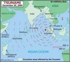Map of the asian tsunami