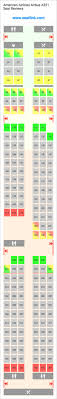 Wow Air Seating Chart American Airlines Airbus A321 Seating Chart Updated