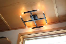 square flush mount ceiling lighting with 8 bulbs