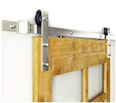 diyhd 5ft brushed nickel steel sliding barn wood door hardware for small door