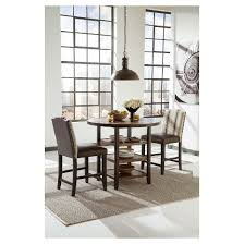 Moriann Round Dining Room Counter Table WoodDark Brown  Signature Design  by Ashley