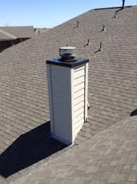chimney chase cover bottom pan spark arrestor
