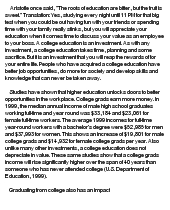 college education essay the benefits of a college education essay 799 words bartleby