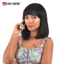 <b>Wignee</b> Brazilian <b>Wavy</b> Hair Short <b>Human</b> Hair Wigs With Adjustable ...