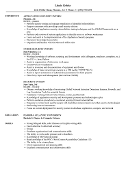 Security Resume Sample Security Intern Resume Samples Velvet Jobs 84