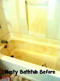 how to clean rust from bathtub remove rust stains from bathtub how