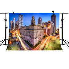 City Lights Video And Photography Amazon Com Mme 10x7ft New York City Backdrop N Y C