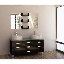 element contemporary bathroom vanity set: design element wellington  in w x  in d vanity in espresso with glass vanity top and mirror in mint dec the home depot