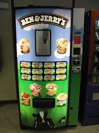 Name A Food You Never See In A Vending Machine Magnificent Ben And Jerrys Ice Cream Vending Machine Random Pinterest Ice