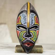 african wood mask bantu zulu west african wood beaded wall mask from