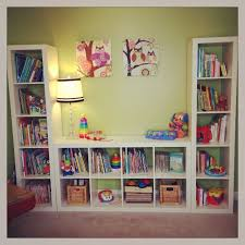 Or place a bench seat between two bookshelves.