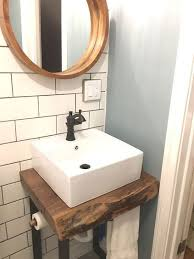 vessel sink base. Exellent Base Live Edge Vanity Base Vessel Sink Subway Tile Perfect Combination With Sink Base