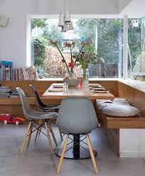 Banc Dangle En Bois Avec Dossier Chaises Design Eames Et Table