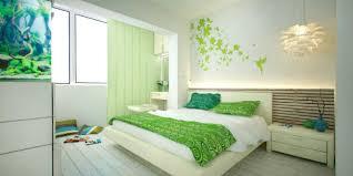 image of modern lime green bedroom