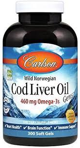 Carlson - Cod Liver Oil, 460 mg Omega-3s + Vitamins ... - Amazon.com