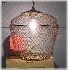 basket pendant light wire basket chandelier diy basket light
