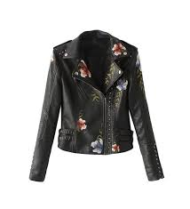 flower womens fl embroidery leather