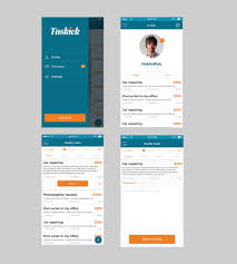 design freelancer entry 62 by salasdesign1 for design a task freelance app mockup