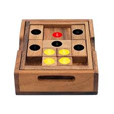 Wooden Games For Adults Amazing Setting Sun Handmade Organic 32D Brain Teaser Wooden Puzzle For