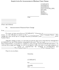 However, if you want to make a more formal announcement, consider sending a letter, note, or card with your new contact information. Sample Letter For Announcement Of Business Name Change Template Download From Letters And Notices Announcements