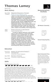 Respiratory Therapist Resume Sample Extraordinary Certified Respiratory Therapist Resume Samples Velvet Jobs