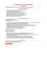 Project Management Specialist Resume Great Sample Resume