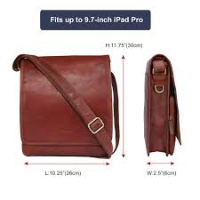 banuce full grains leather messenger bag for men small flap over vintage shoulder cross bag ipad organizer