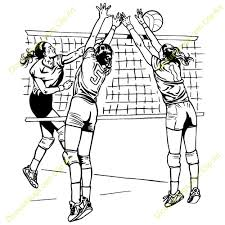 Image result for girls volleyball clipart