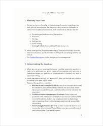 school essay sample examples in word pdf social science uq edu au