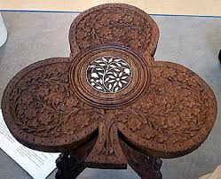 indian carved dining table. carrie pratt is the proud owner of this table. while i\u0027m not an expert, something about carving suggest more a middle east influence than indian. indian carved dining table