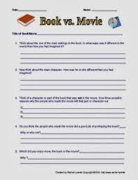 classroom bies compare contrast books and movies printable compare contrast books and movies printable